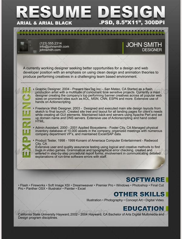 Creative Resume Templates Download – Msn Resume Templates