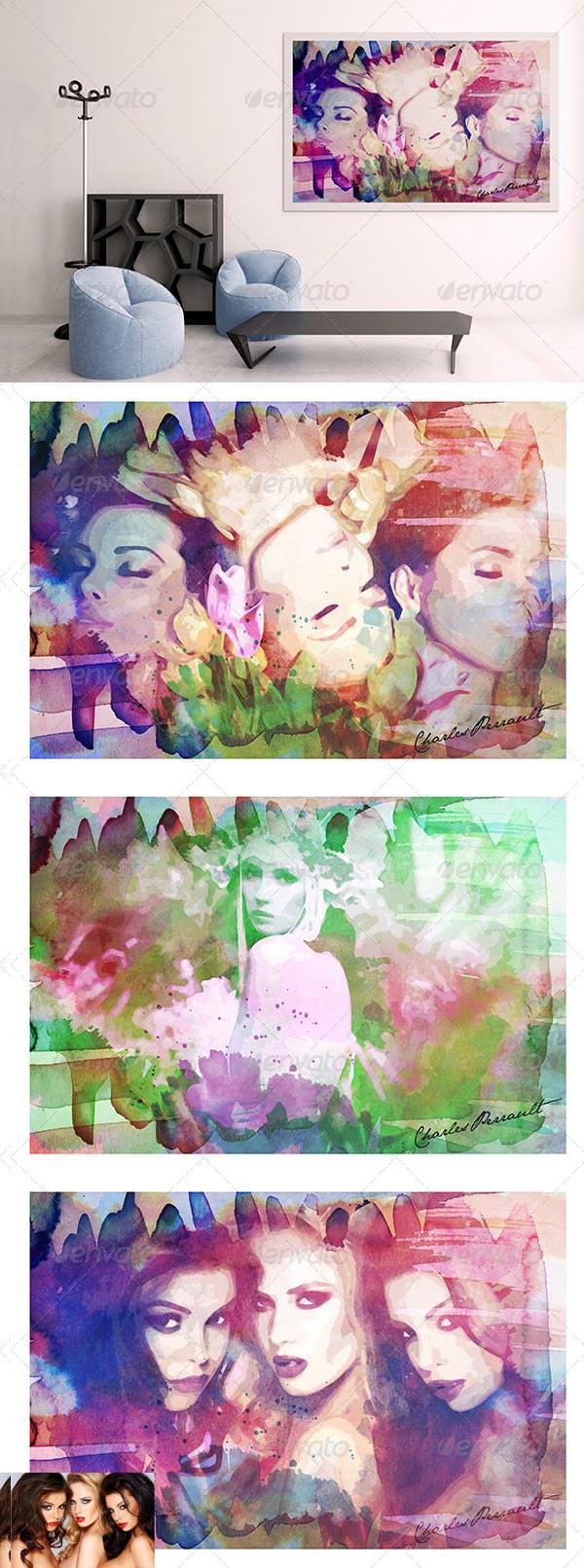 creative watercolor artwork template