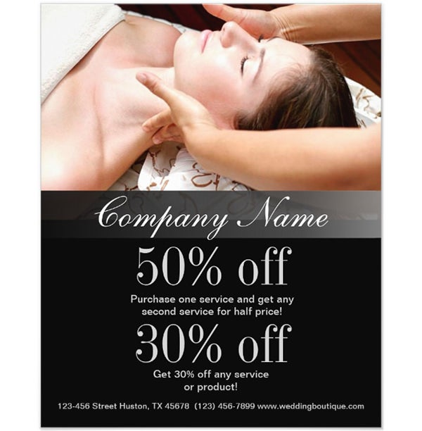 Customize Massage Salon beauty SPA business Flyers