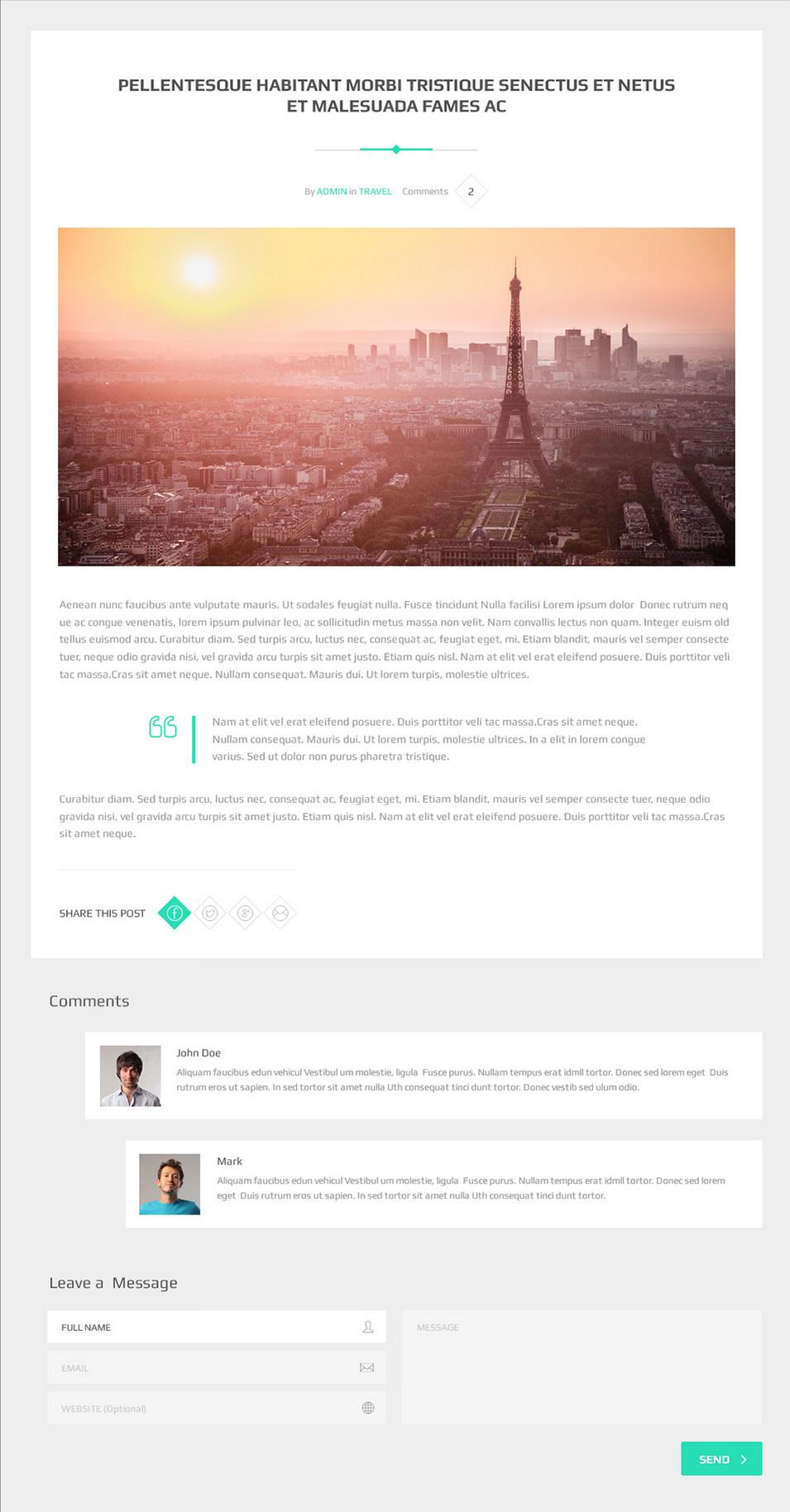 cuvey multi purpose parallax psd landing page