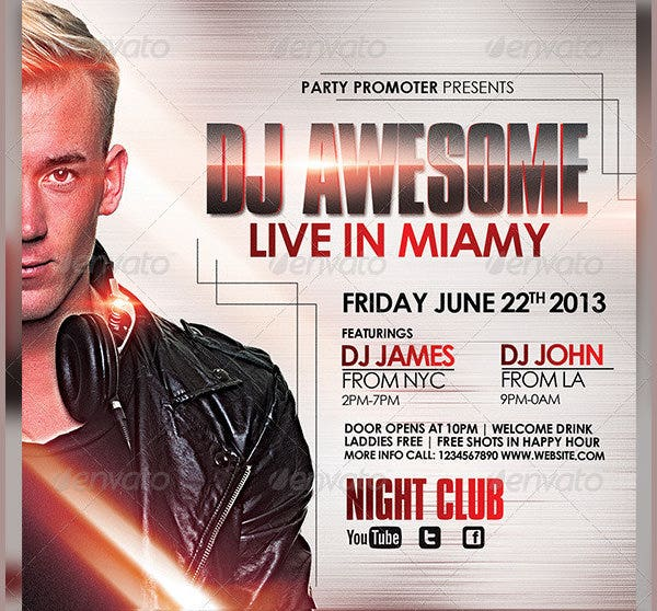 dj flyer template3