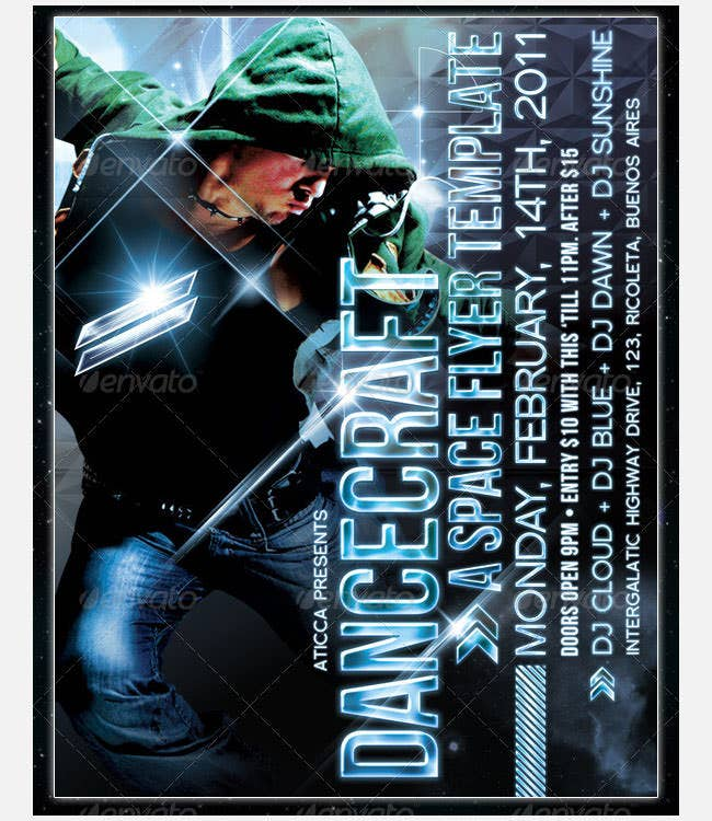 dancecraft a space poster template