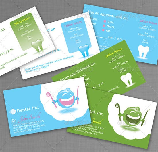 dental business cards 2