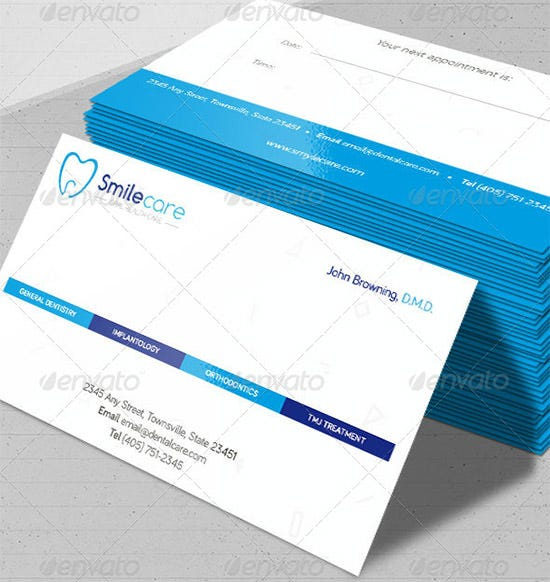 Dentist & Dental Clinic Business Card Template – 40+ Free PSD ...