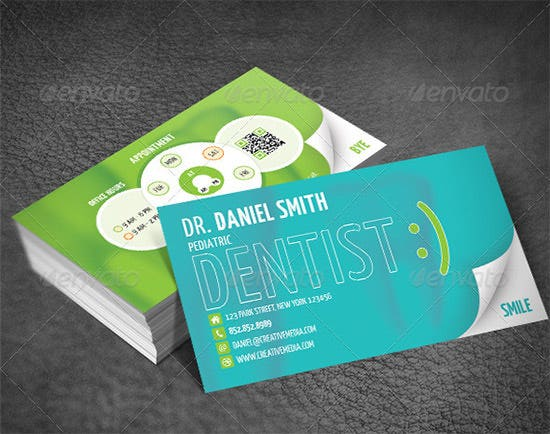 dentist dental clinic business card template 40 free psd format