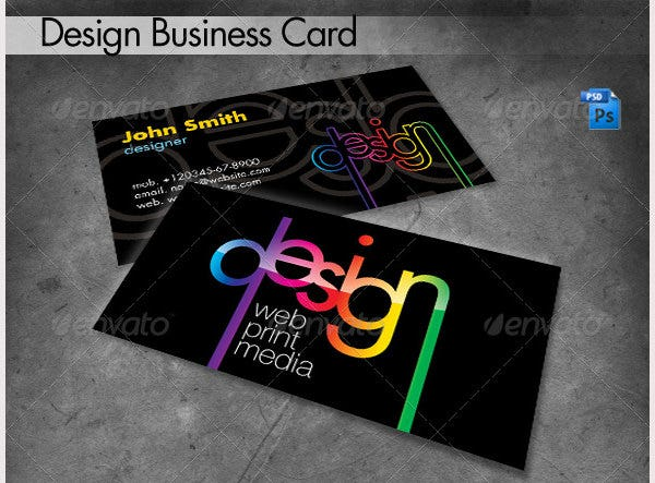 75 Business Card Templates For Designer In Ai Ms Word Psd Le Pages Free Premium