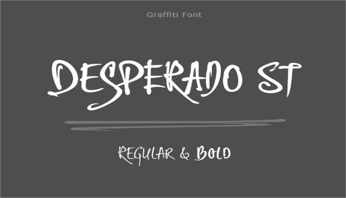 desperado-st-graffiti-font