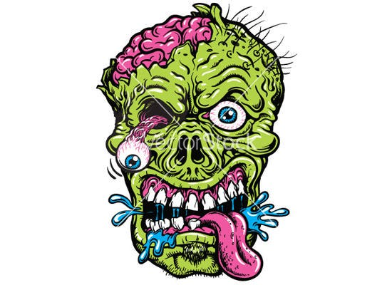 detailed zombie head