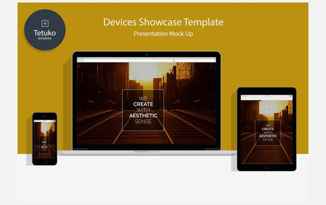 devices showcase psd template
