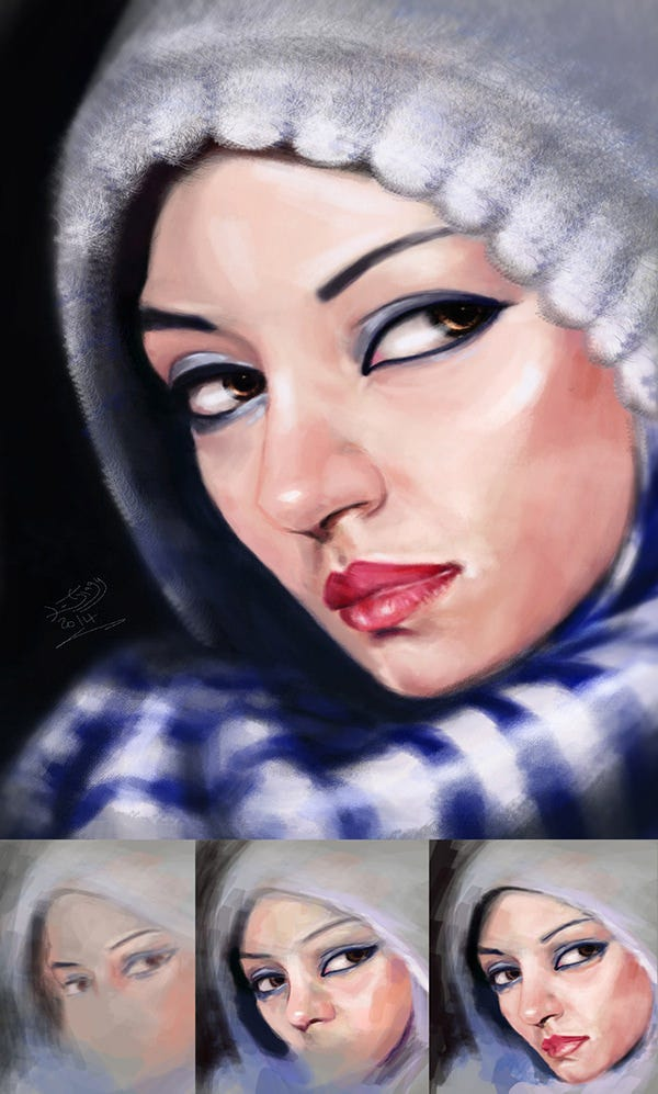 Digital Painting Marwa Ragheb