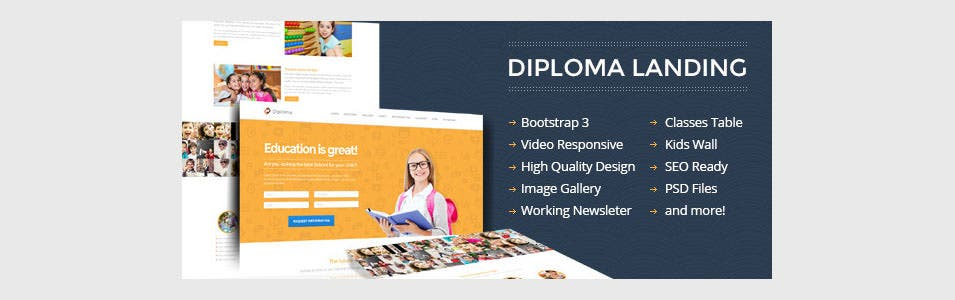 diploma education bootstrap responsive landing