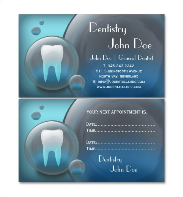 elegant dental business card for dentist