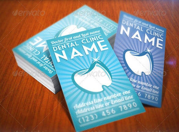 elegant dentist business card psd format