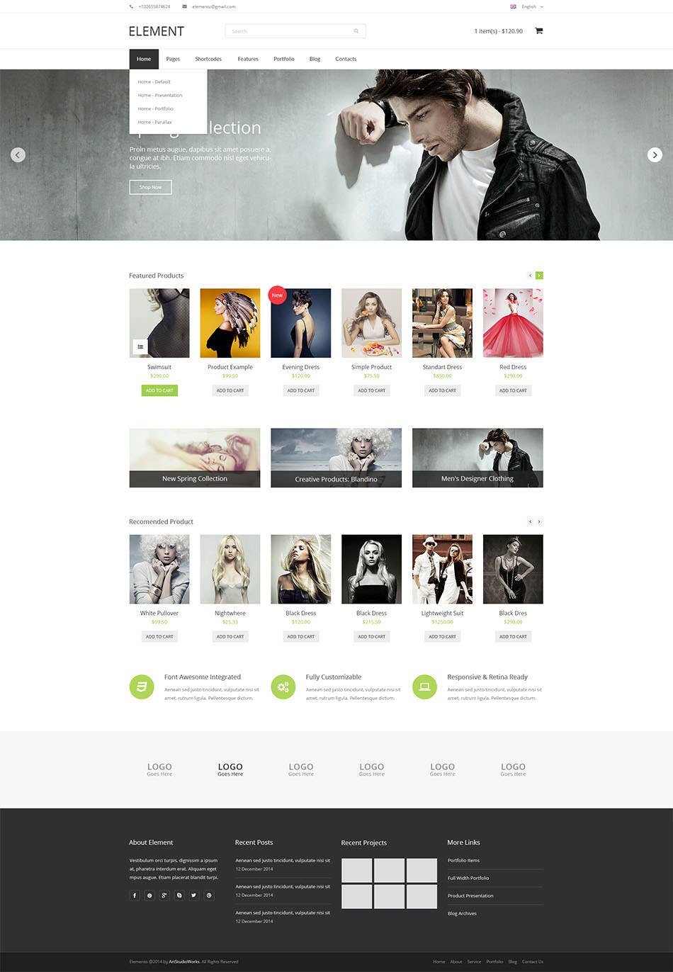 element psd template