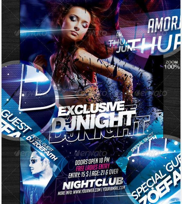 exclusive dj flyer template