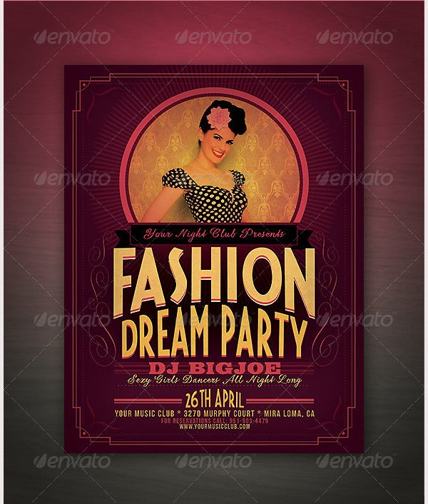 fancy retro flyer template