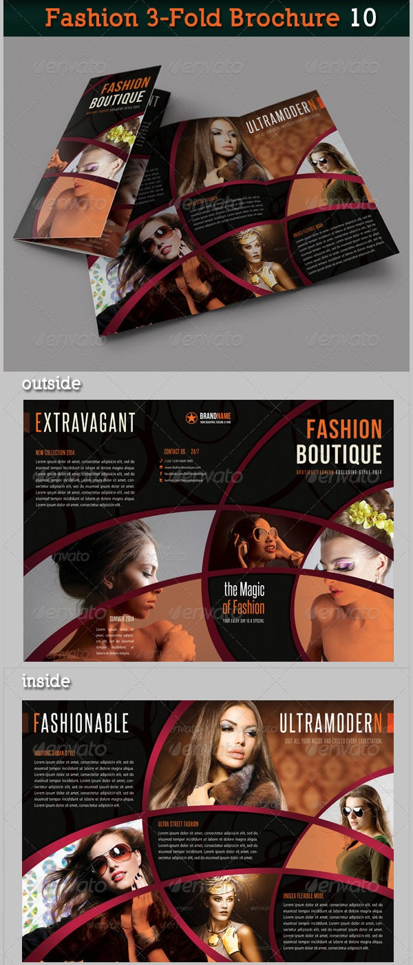 fashion 3 fold brochure 10