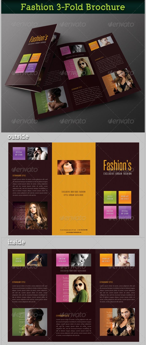 fashion 3 fold brochure 18