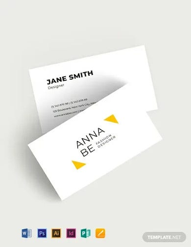fashion designer business card template