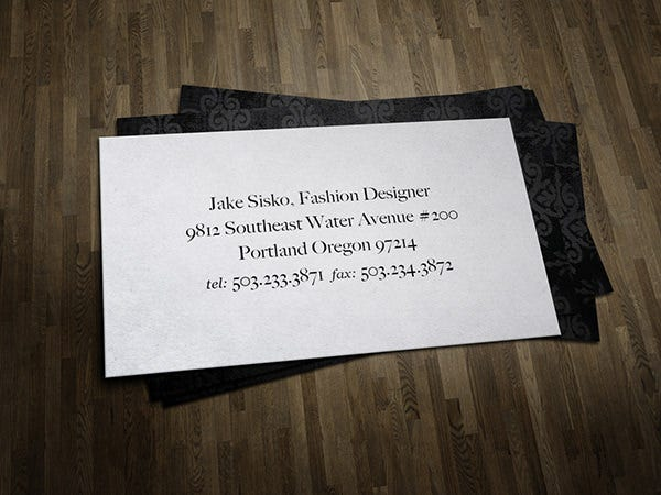 fashion designer business card1
