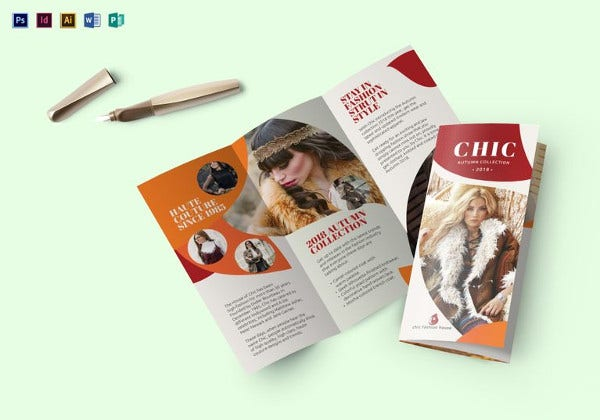 fashion trend brochure template