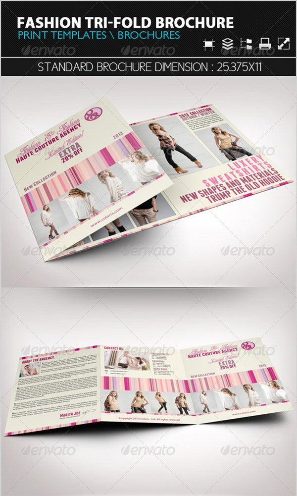 fashion tri fold brochure template