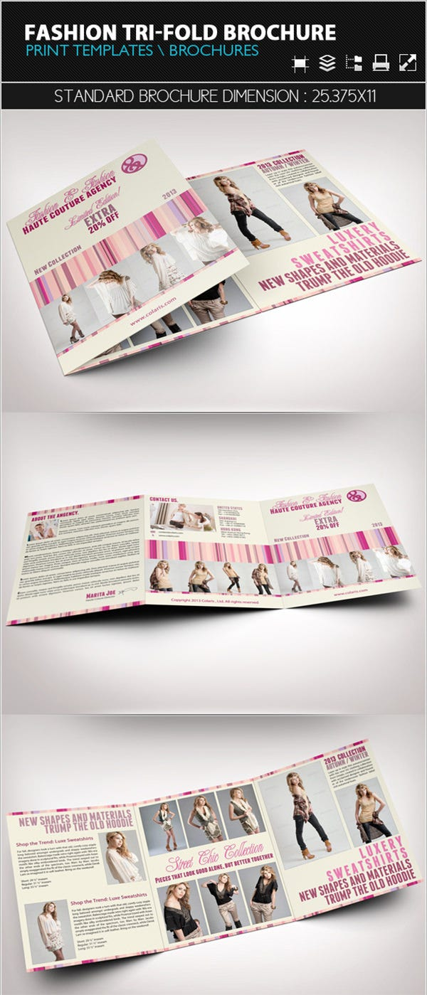 fashion tri fold brochure templatea