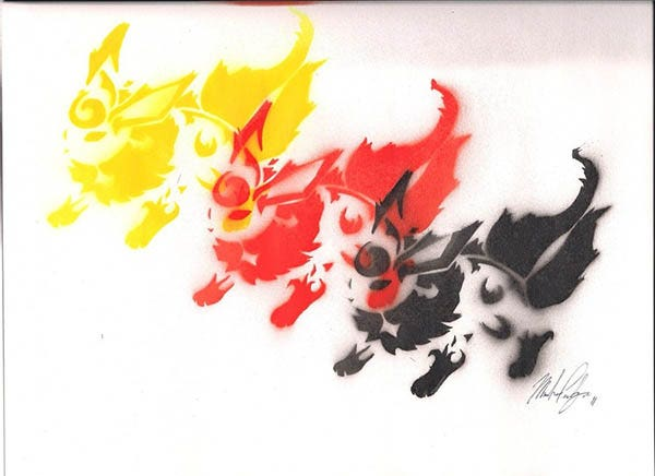 flareon spray paint