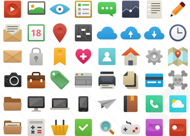 flat 48 free vector ui icons