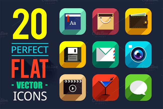 flat app ui icons