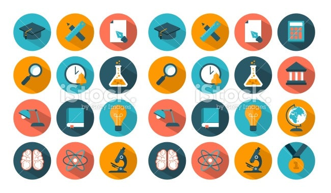 flat education ui icons