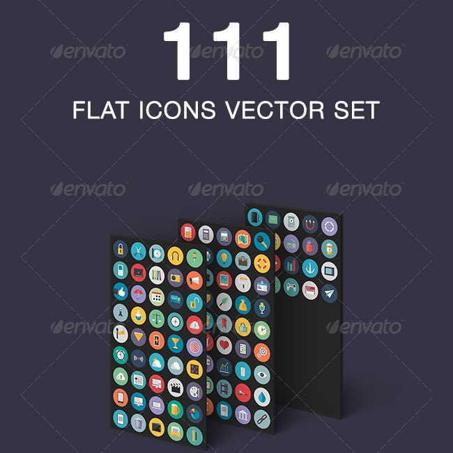 flat icons vector set