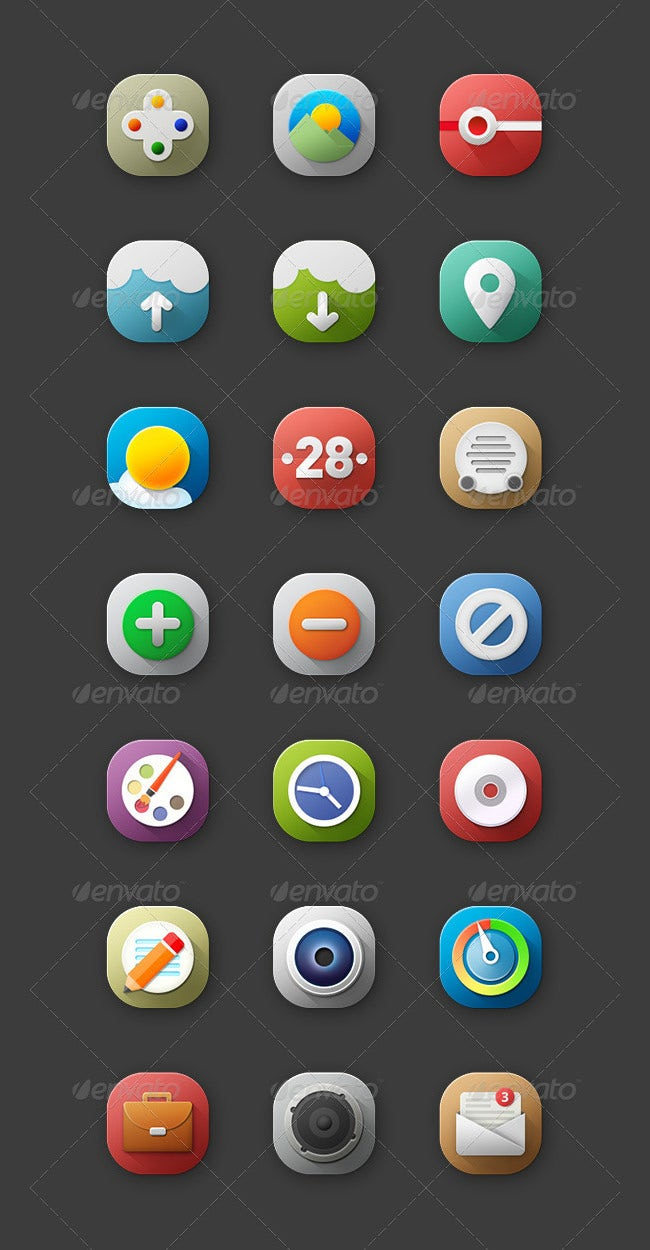 flat icons for retina ui