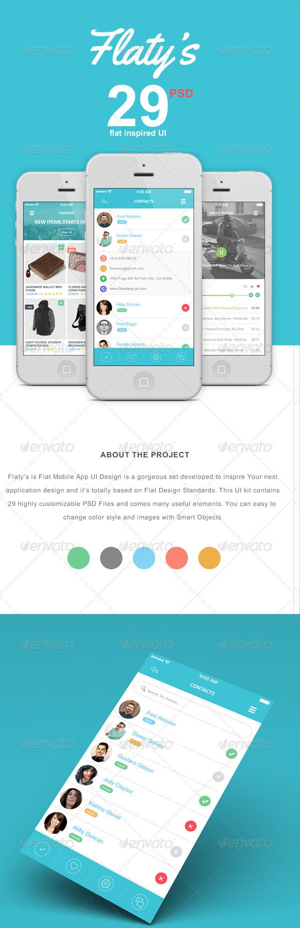flat mobile app ui kits