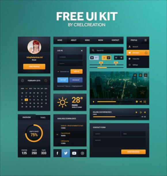flat-ui-kit-web-elements