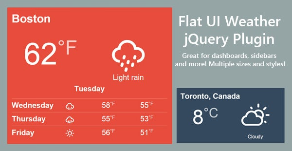 flat weather jquery plugin