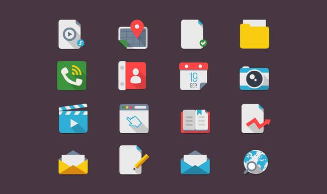 flat icons ui
