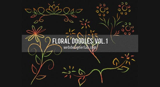 floral doodles brushes