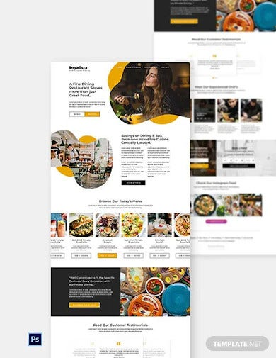 food restaurant website template