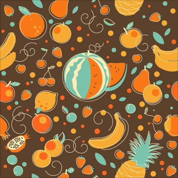 food seamless backgrounds in vintage style