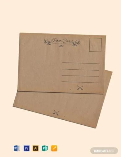 free blank vintage postcard template