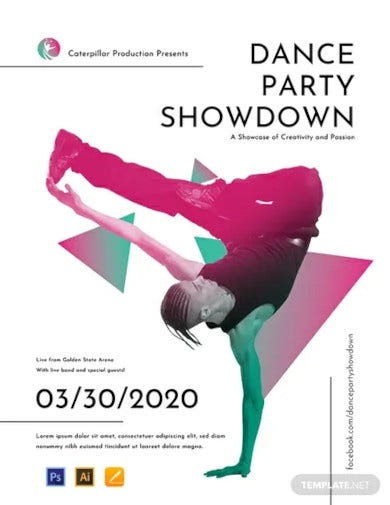 free dance party poster template