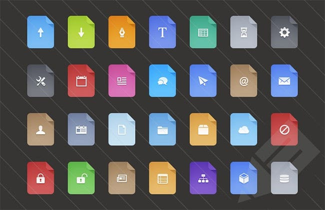 free flat filetype ui icons