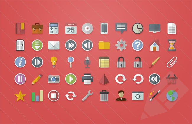 free flat vector ui icons