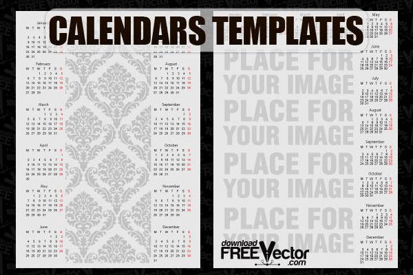 free vector calendars templates