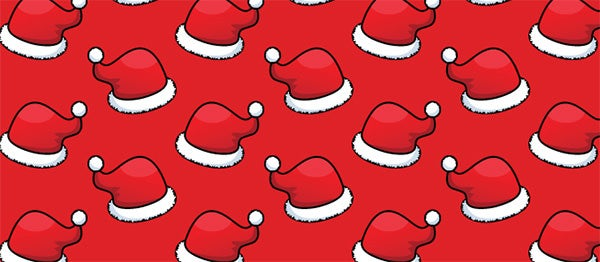 free vector repeat patterns christmas santa hats patternhead copy