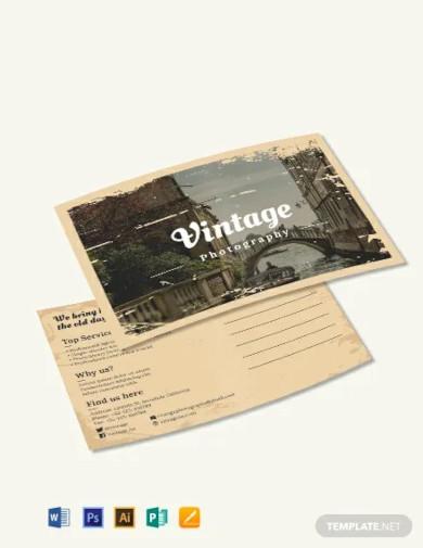 free vintage postcard template