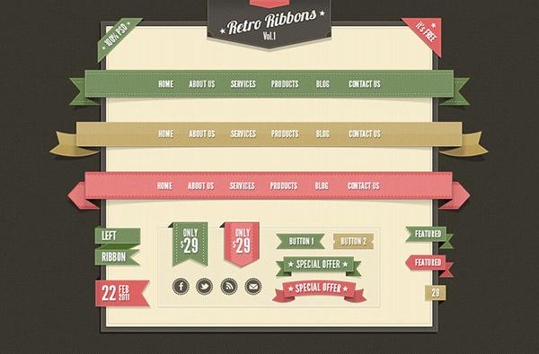 free vintage web elements