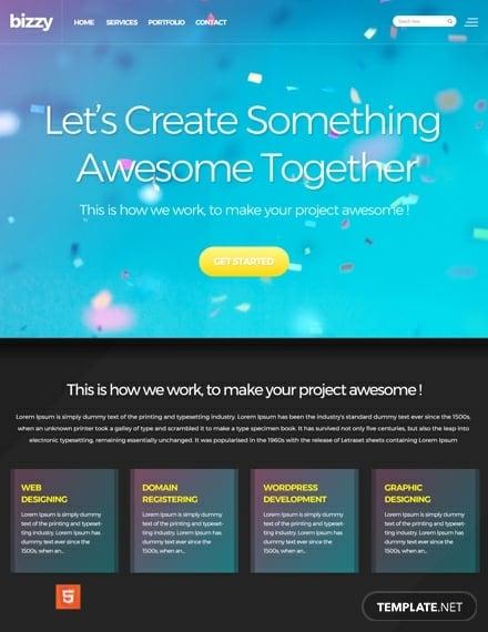 free web development html5css3 website template1