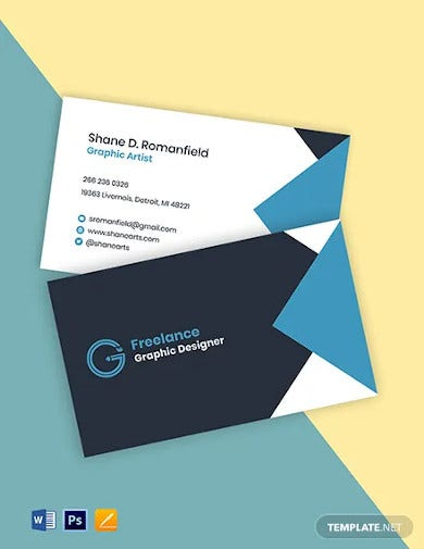 freelance designer business card template